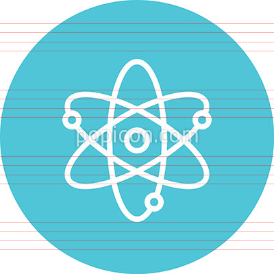 Atom Particle Matter Outline Icon
