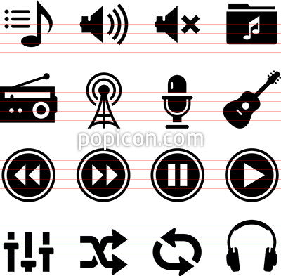 Audio Icons - Black Series