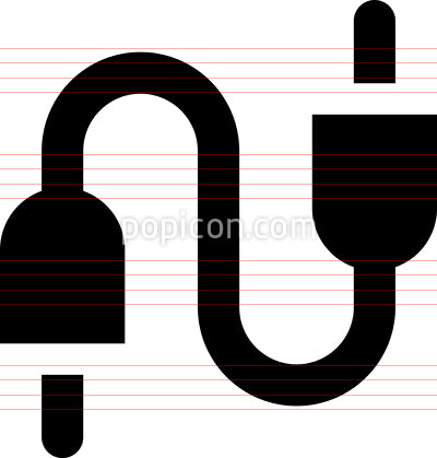 Audio Jack Cable Vector Icon