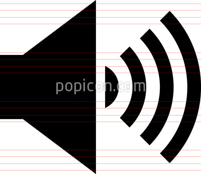 Audio Speaker Vector Icon