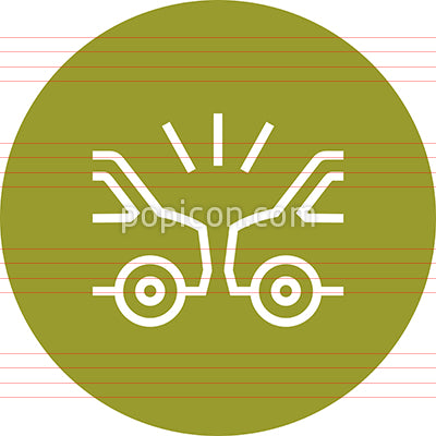 Auto Accident Car Wreck Outline Icon