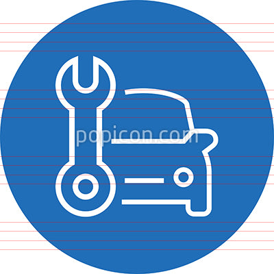 Auto Repair Shop Outline Icon