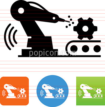 Automated Manufacturing Robot Icon