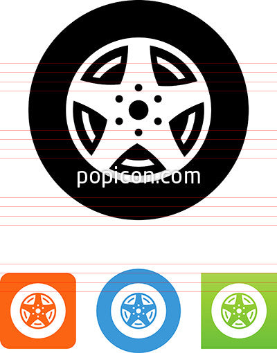 Automotive Wheel Icon
