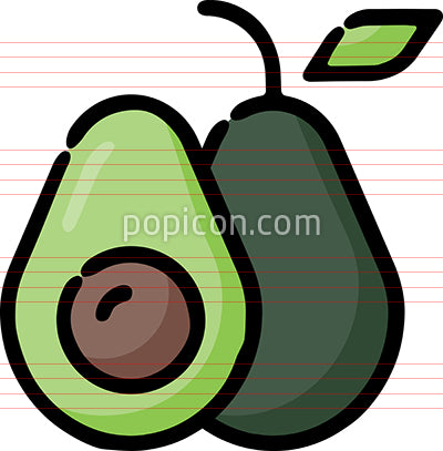 Avocado Food Hand Drawn Icon