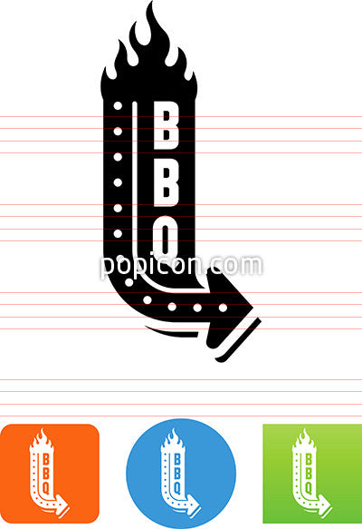 BBQ Sign Icon