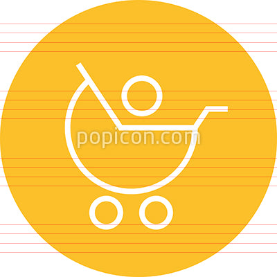 Baby Carriage Stroller Infant Outline Icon