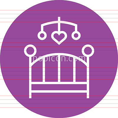 Baby Crib With Mobile Outline Icon
