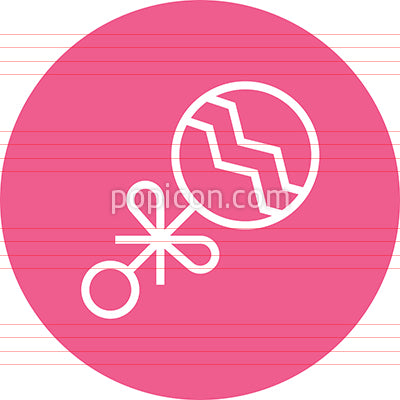 Baby Rattle Child's Toy Outline Icon