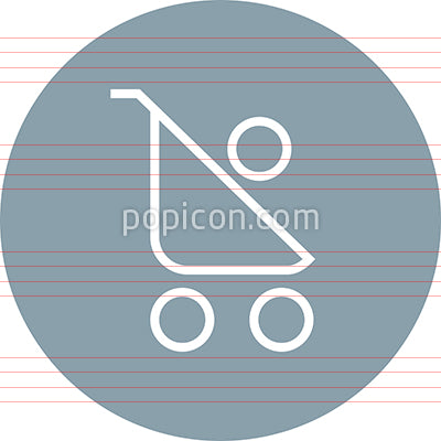 Baby Stroller Infant Outline Icon