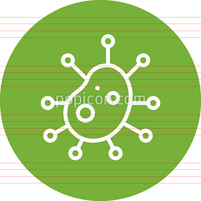 Bacteria Virus Disease Illness Outline Icon