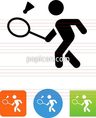 Badminton Forehand Icon