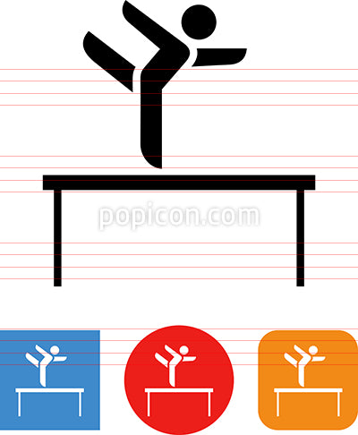 Balance Beam Gymnastics Vector Icon