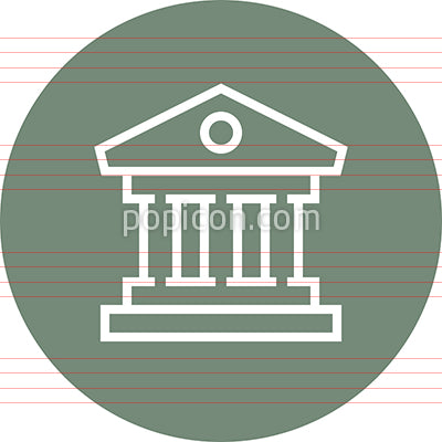 Bank Finance Building Outline Icon