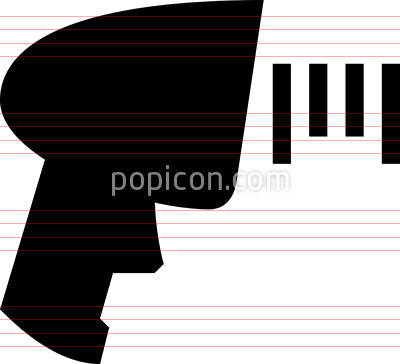 Bar Code Scanner Vector Icon