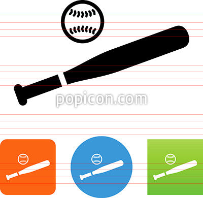 Baseball And Bat Icon