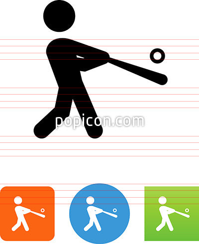 Baseball Hit Icon