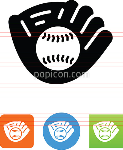 Baseball In Mitt Icon