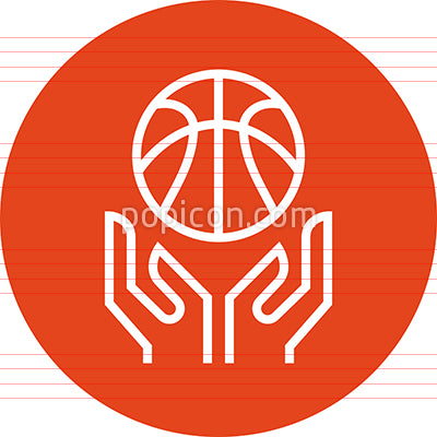 Basketball Hoops Tournament Outline Icon