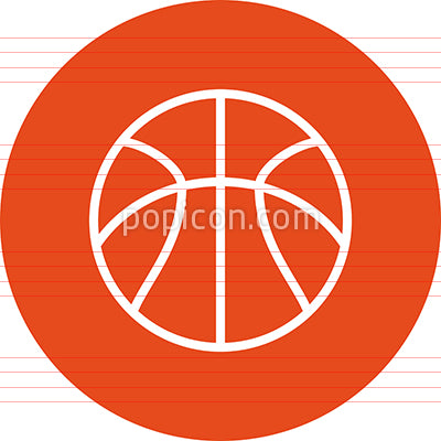 Basketball Team Sport Outline Icon