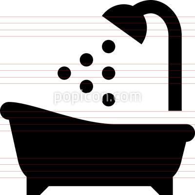 Bath Tub Shower Icon