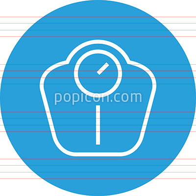 Bathroom Scale Weight Loss Outline Icon