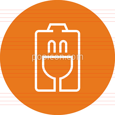 Battery Charging Station Outline Icon