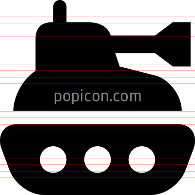 Battle Tank Vector Icon