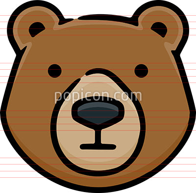 Bear Head Hand Drawn Icon