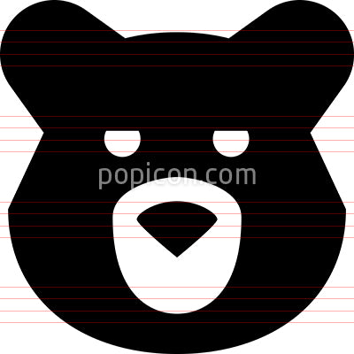 Bear Head Forest Creature Vector Icon