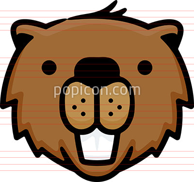 Beaver Head Hand Drawn Icon