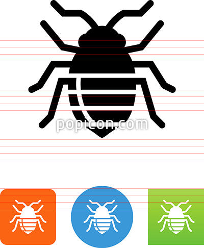 Bed Bug Insect Icon