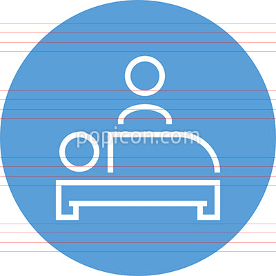 Bedside Manner Hospital Visit Outline Icon