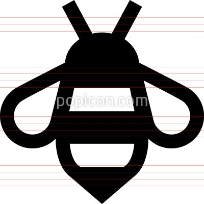 Bee Honey Insect Icon