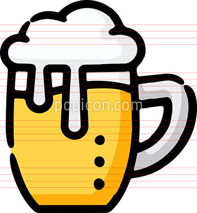 Beer Mug Brewpub Hand Drawn Icon