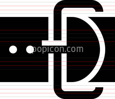 Belt Fashion Accessory Vector Icon