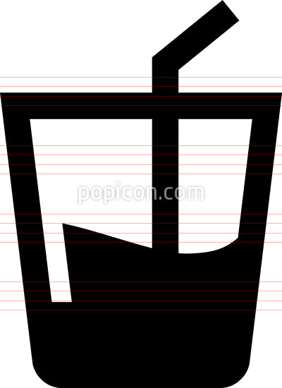 Beverage With Drinking Straw Icon