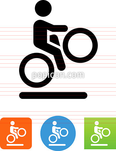 Bicycle Wheelie Icon
