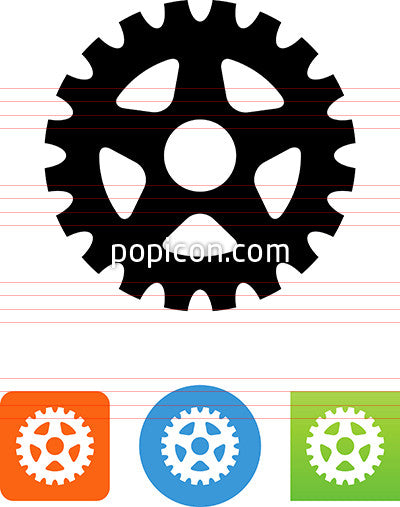 Bike Sprocket Icon