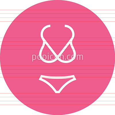 Bikini Swimsuit Clothing Outline Icon
