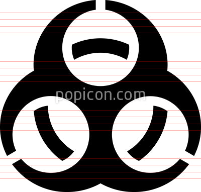 Biohazard Epidemic Warning Icon