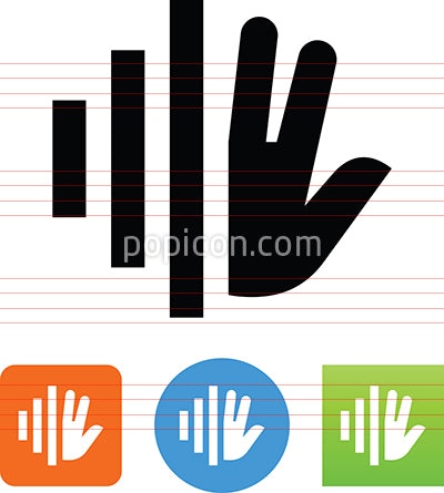 Biometric Hand Scan Icon