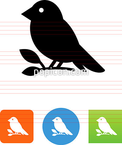 Bird Sitting On A Branch Icon