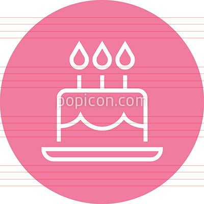 Birthday Cake With Candles Outline Icon