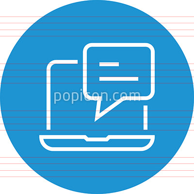 Blog Post Comment Outline Icon
