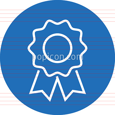 Blue Ribbon Award Outline Icon