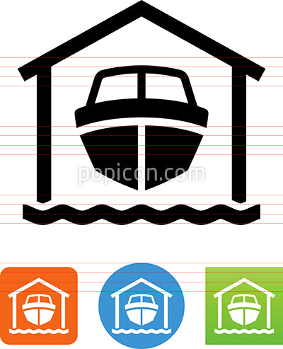 Boat In Drydock Icon