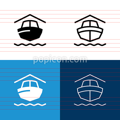 Boat Storage Icon Set