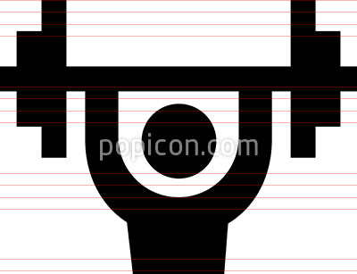Bodybuilding Barbell Vector Icon