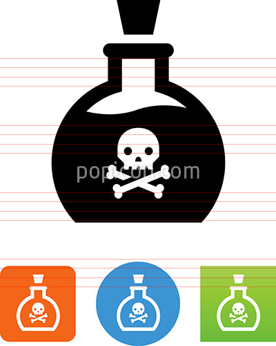 Bottle With Skull Icon